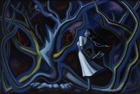 岡本太郎《夜》1947年 油彩・キャンバス