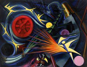 岡本太郎《重工業》1949年 油彩・キャンバス