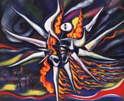 《明日の神話》(部分)1968 油彩・キャンバス
